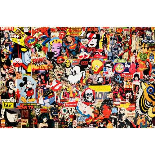 Pop collage III 120x80 collage